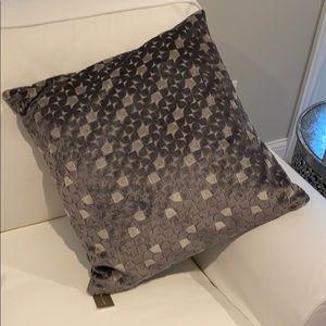 NWT JCrew Home Gray Velvet Accent Pillow